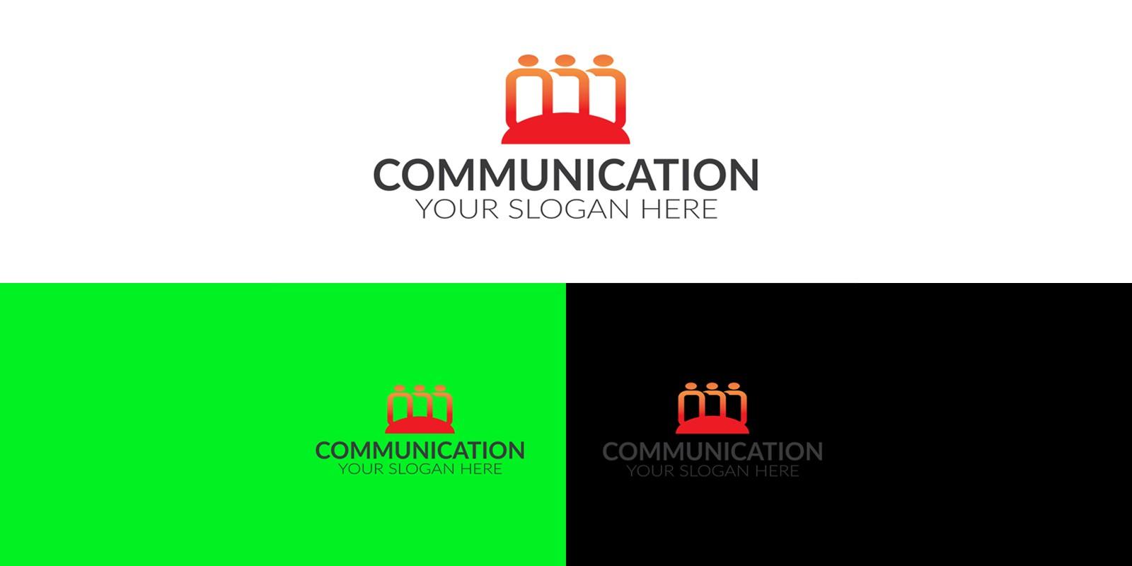 Communication Company Logo Design Template