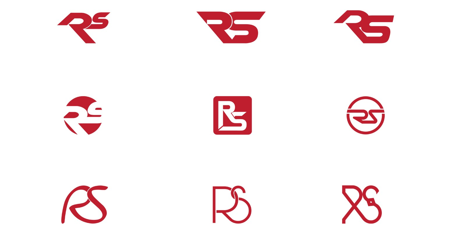 Simple And Flat RS Logo Design Template