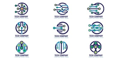 Professional Tech Logo Design Template