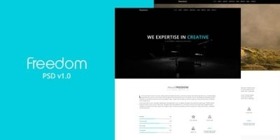 Freedom - One Page Responsive HTML Template