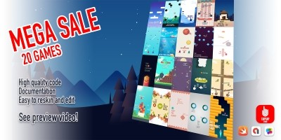 Mega Sale - 20 iOS Game Source Code