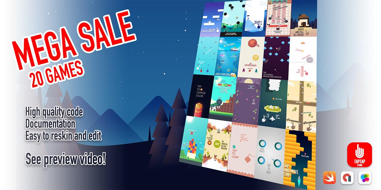 Mega Sale - 20 iOS Game Source Code