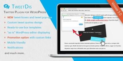 TweetDis - WordPress Twitter Plugin