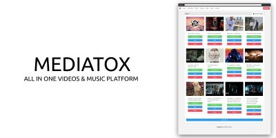 Mediatox - Videos And Music Platform Node.JS