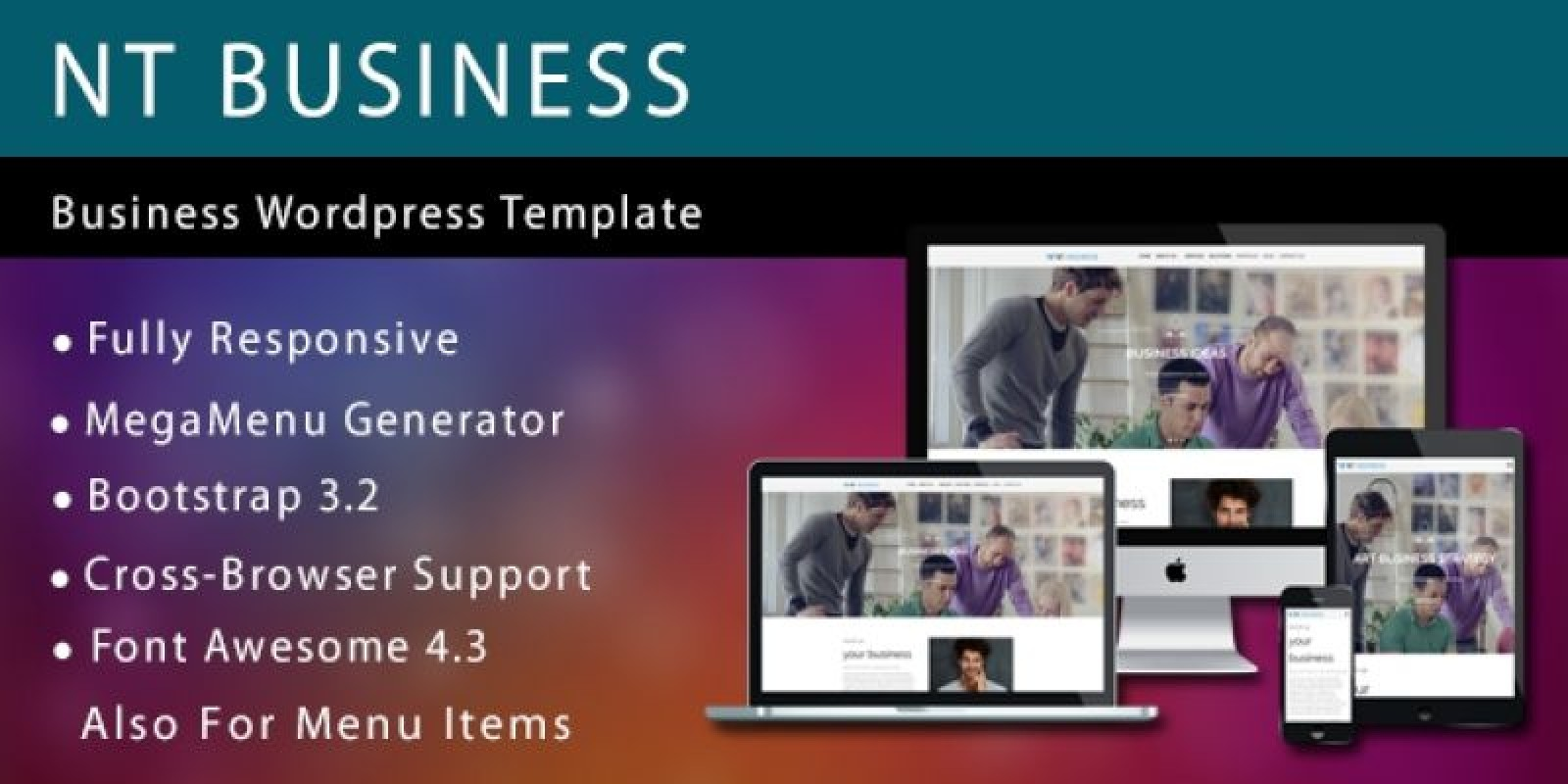 NT Business –  Business WordPress Theme