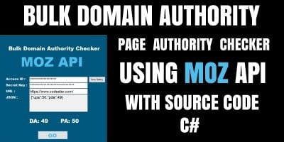 Bulk Domain Authority Checker C#