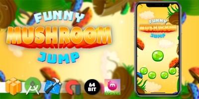 Funny Mushroom Jump - Buildbox Template