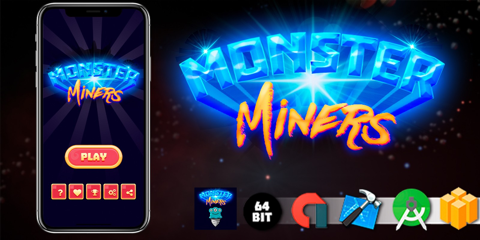 Monster Miners - Buildbox Template