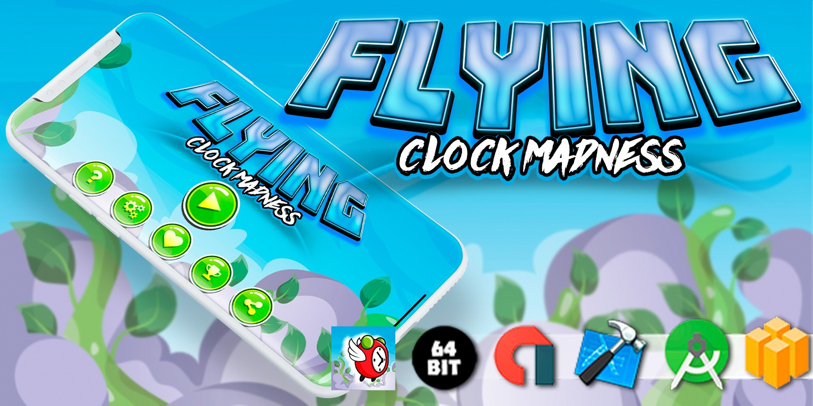 Flying Clock Madness - Buildbox Template