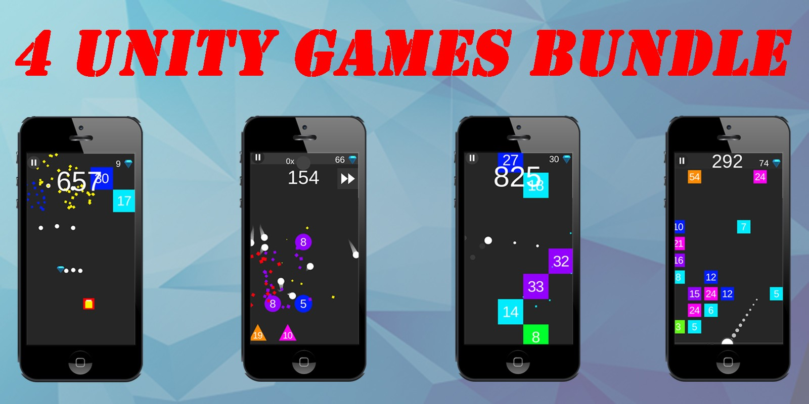 4 Unity Games Bundle