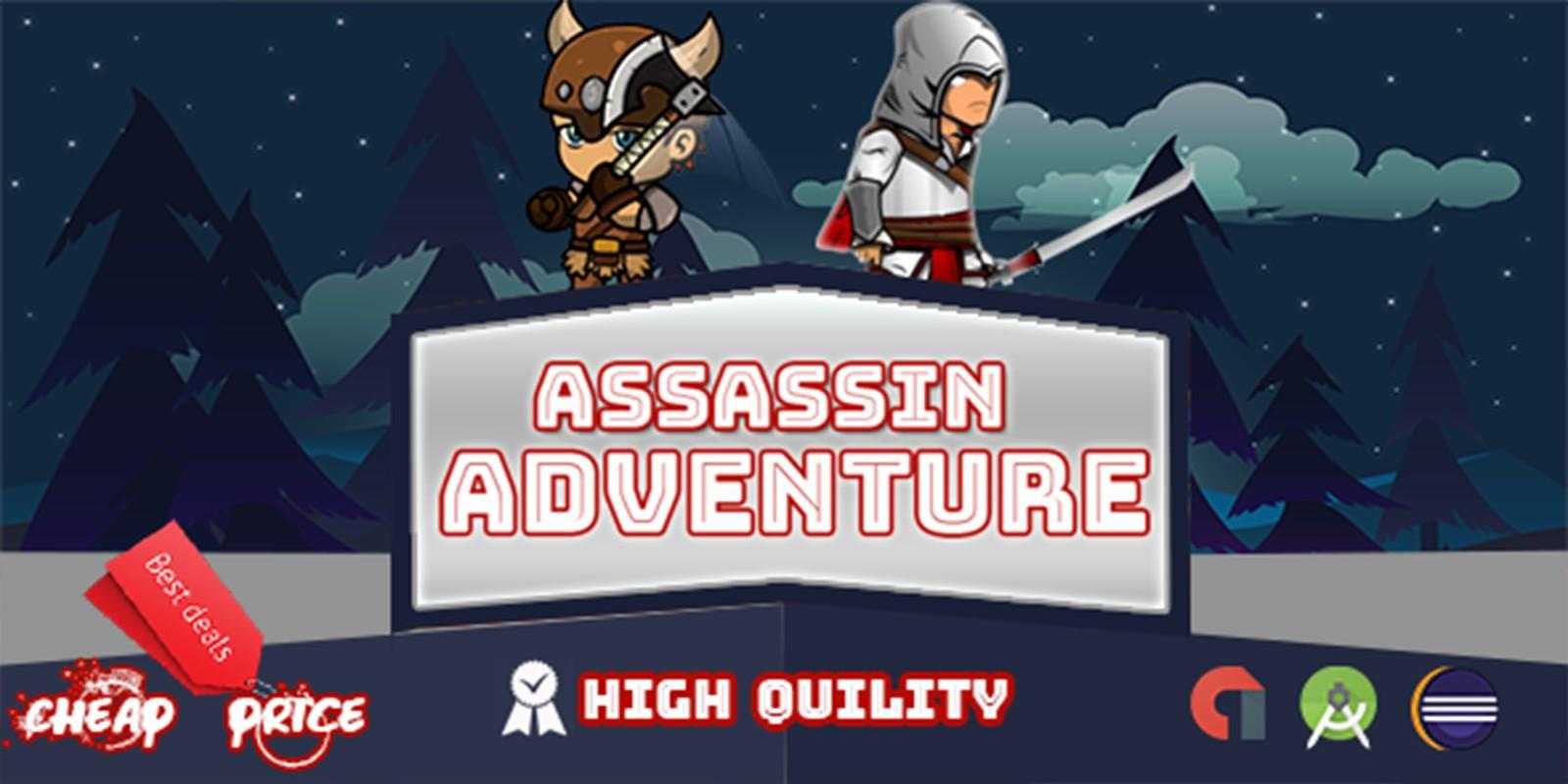 Assassin Adventure Game - Buildbox Template