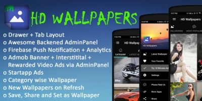 HD Wallpaper App - Android Source Code