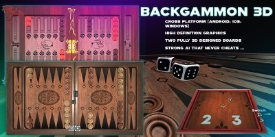 Backgammon 3D - Unity 3D Complete Project