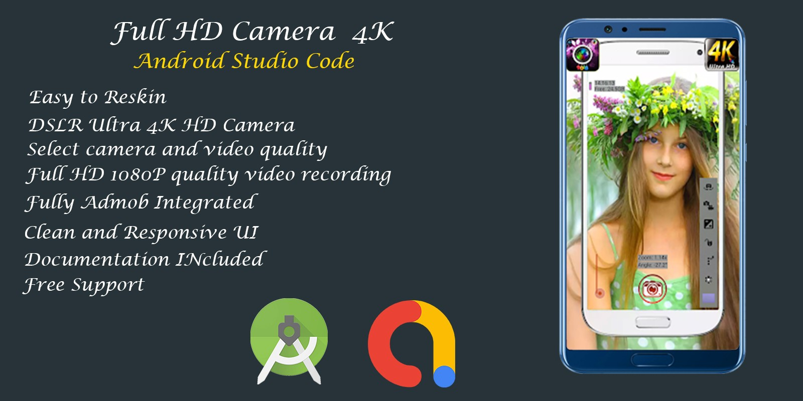 Full HD Camera 4K - Android Studio Code