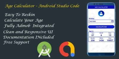 Age Calculator - Android Studio Code