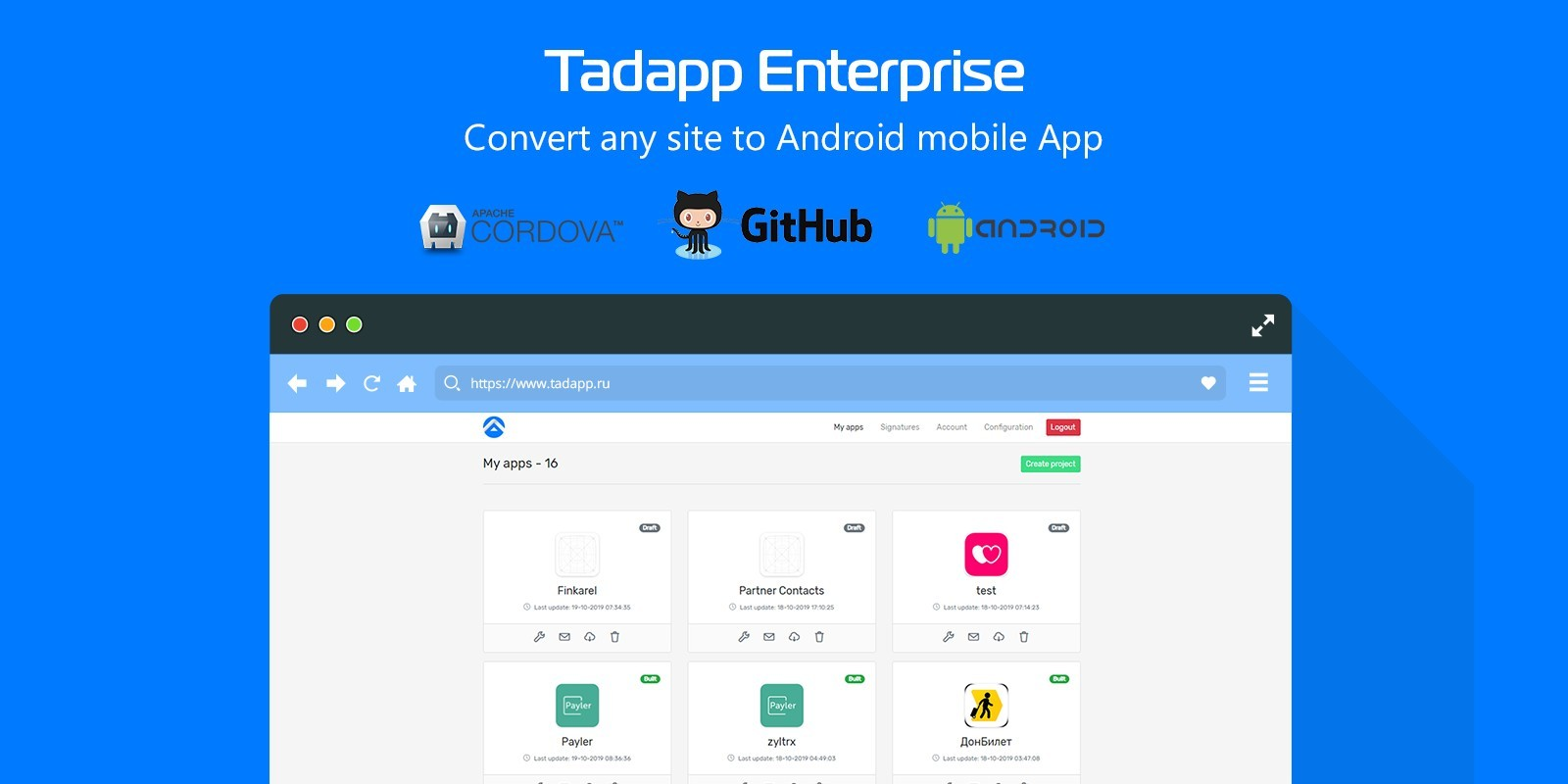 Tadapp - Convert Site To Android Mobile App
