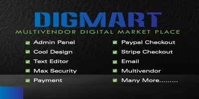 DigMart - Multivendor Digital MarketPlace PHP