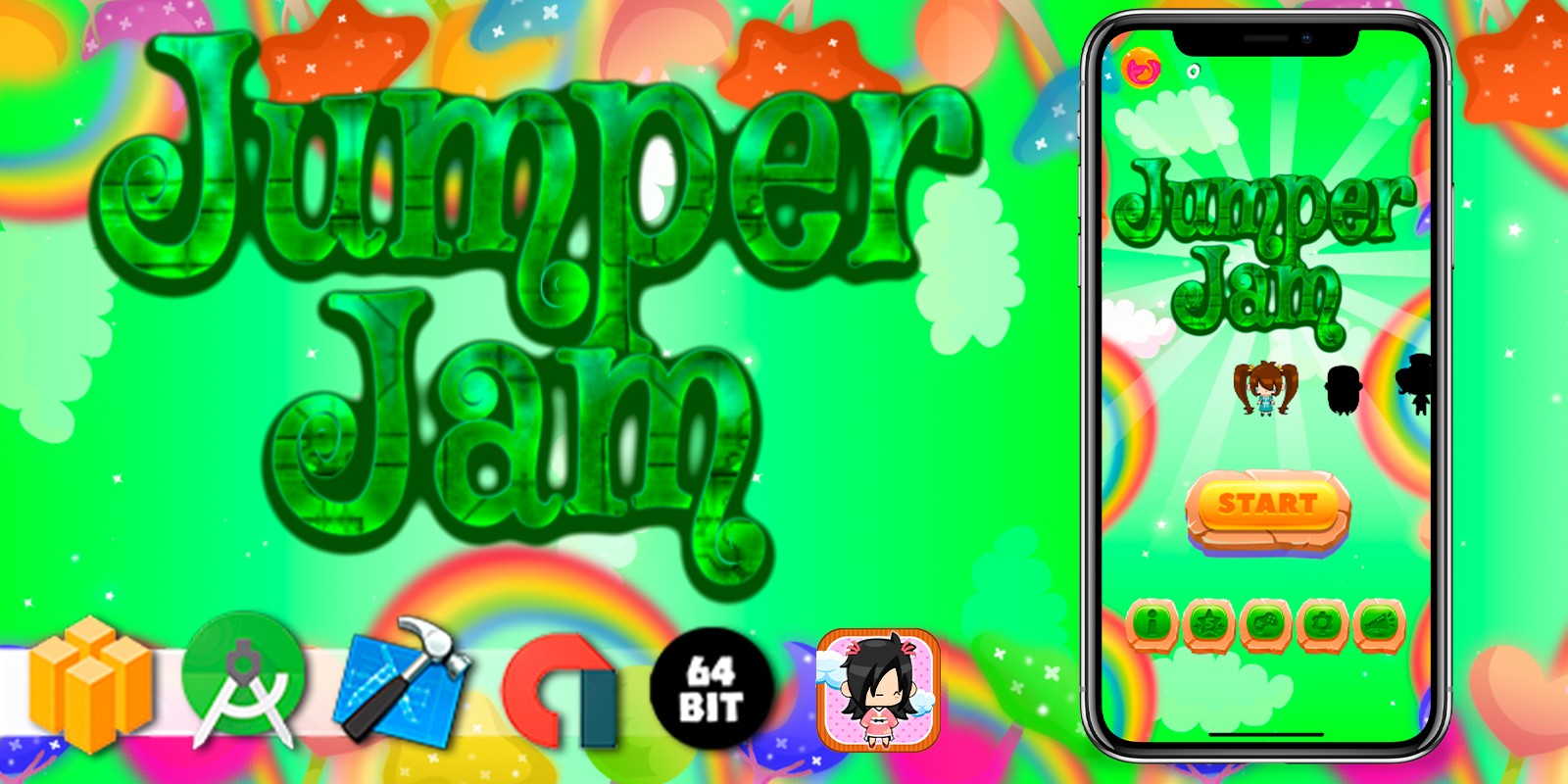 Jumper Jam - Buildbox Template