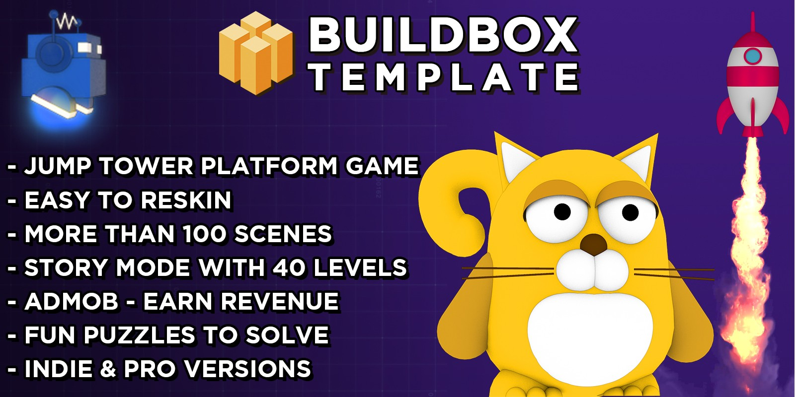 Cool Cat Buildbox Template