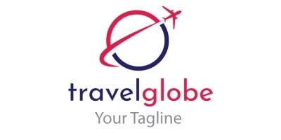 Travel Globe Shape Logo Design