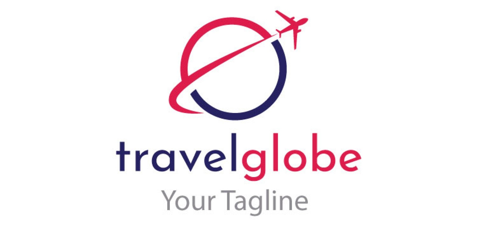 Travel Globe Shape Logo Design