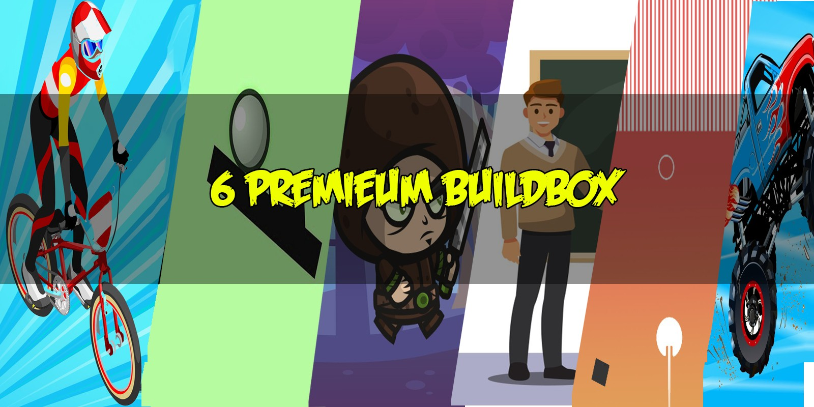6 Premium Buildbox Game Templates