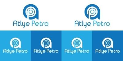 AP Letter Typography Logo Design Template