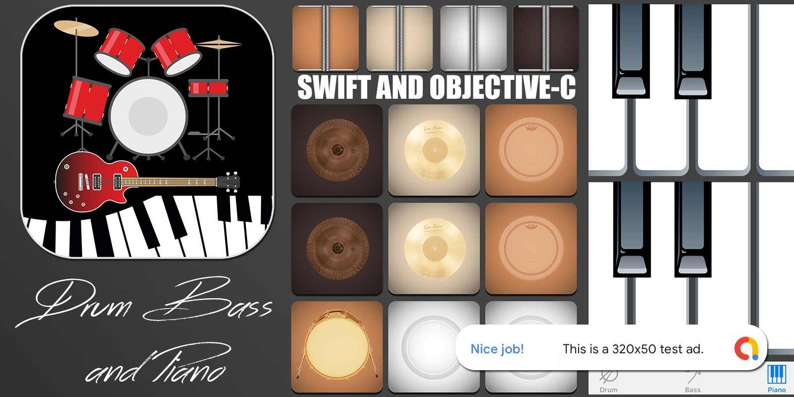 Drum And Bass App For iPhone With AdMob Banner