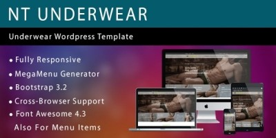 NT Underwear – Fashion WordPress Theme