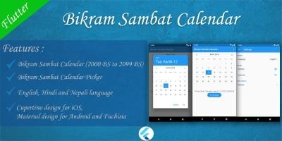 Bikram Sambat Calendar - Flutter Template