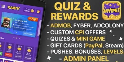 Hype - Quiz And Rewards Android App With Panel