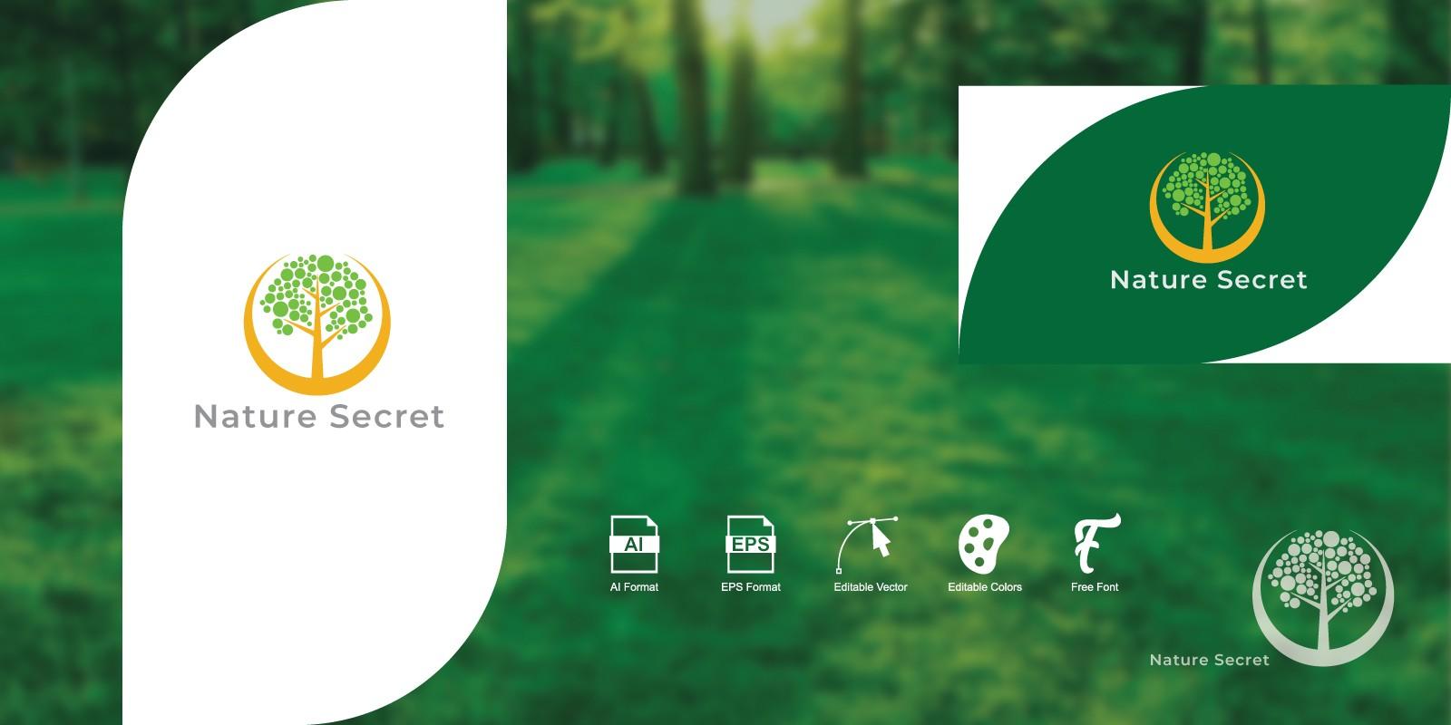 Nature Secret Logo Template