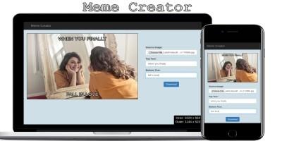 Meme Creator - Javascript Web Application