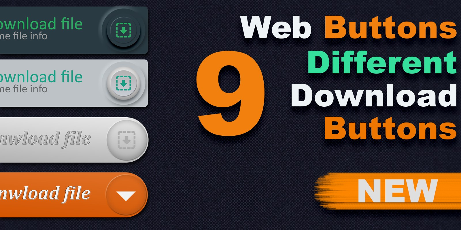 9 Different Web Download Buttons