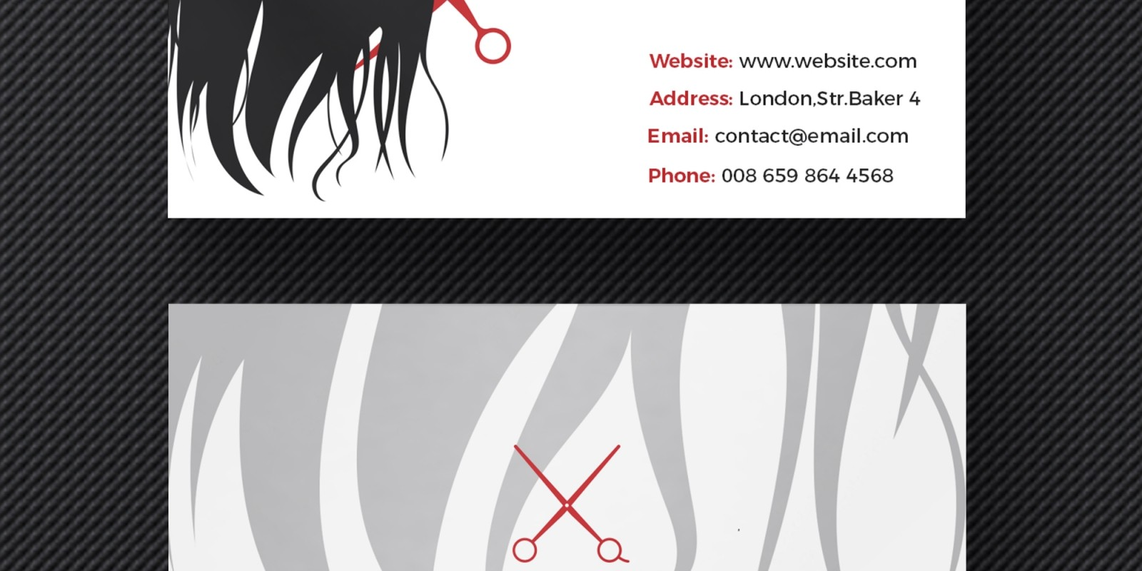 Hair salon business card