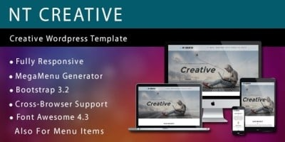 NT Creative - Creative WordPress Theme