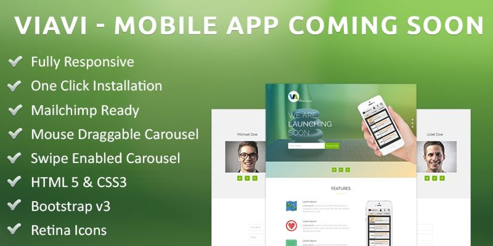Viavi - Mobile App Coming Soon PHP Script
