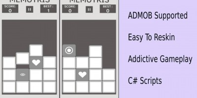 Memory Style Tetris - Unity Complete Game Template