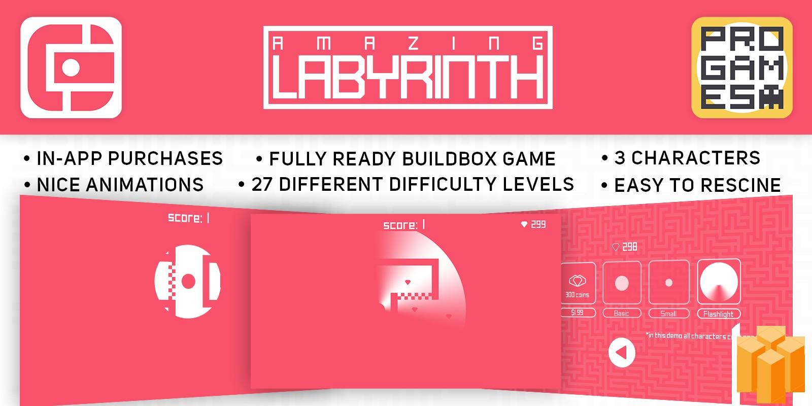 Amazing Labyrinth- Buildbox Template