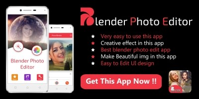 Blender Photo Editor - Android App Template