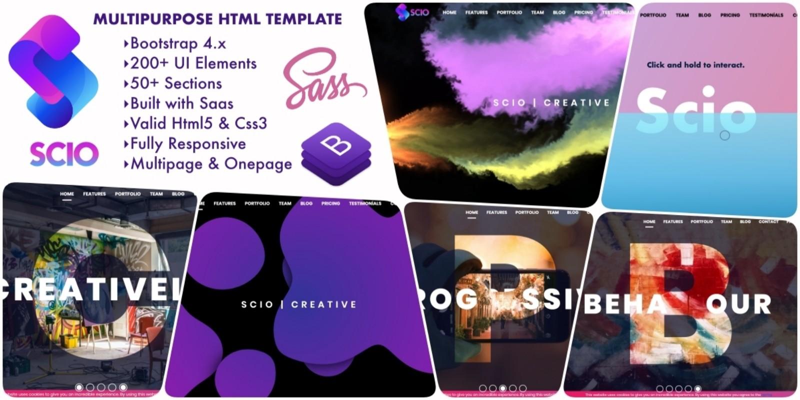 SCIO - Multipurpose Bootstrap 4 HTML5 Template