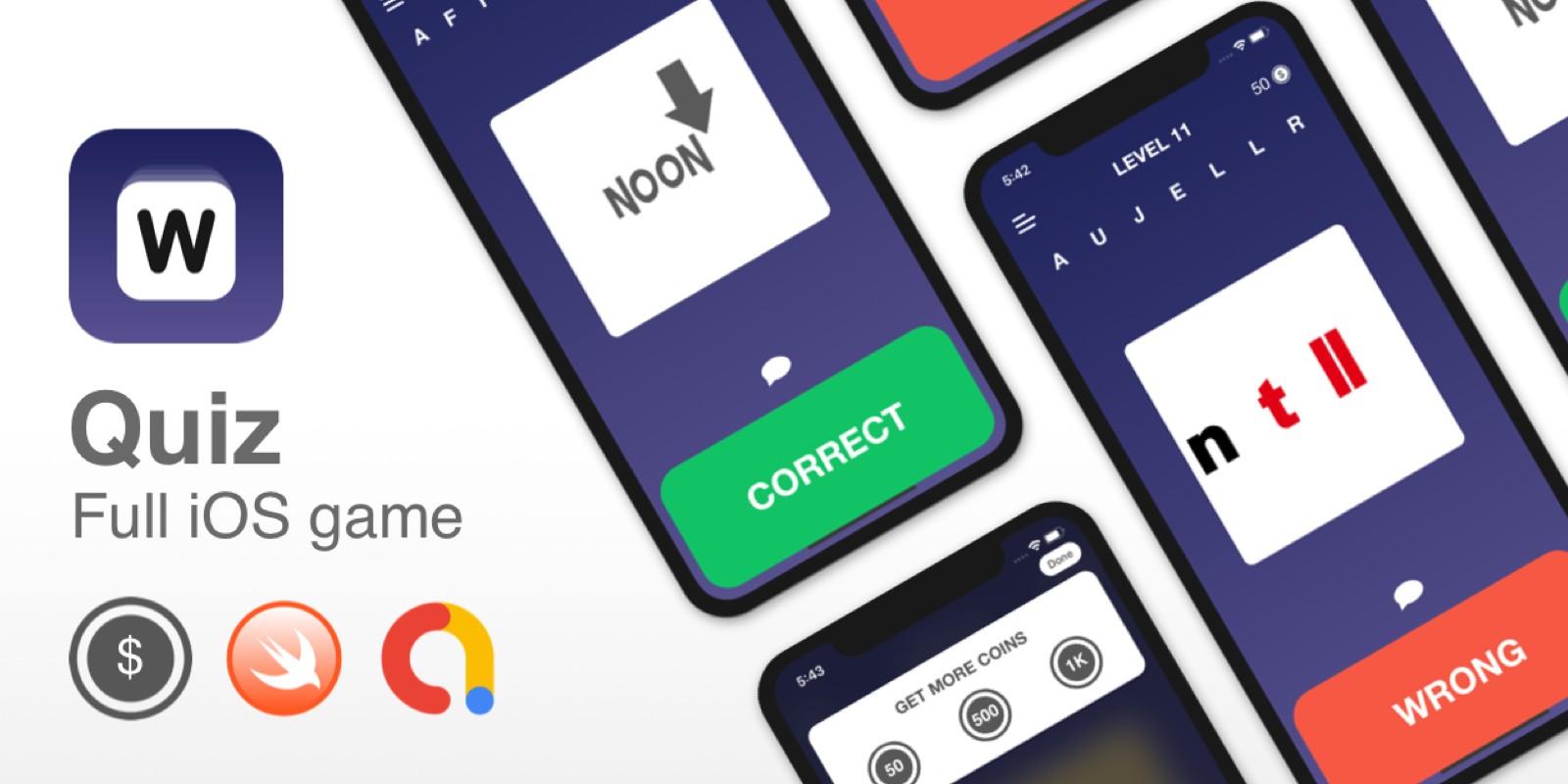 Quiz - Full iOS App Template