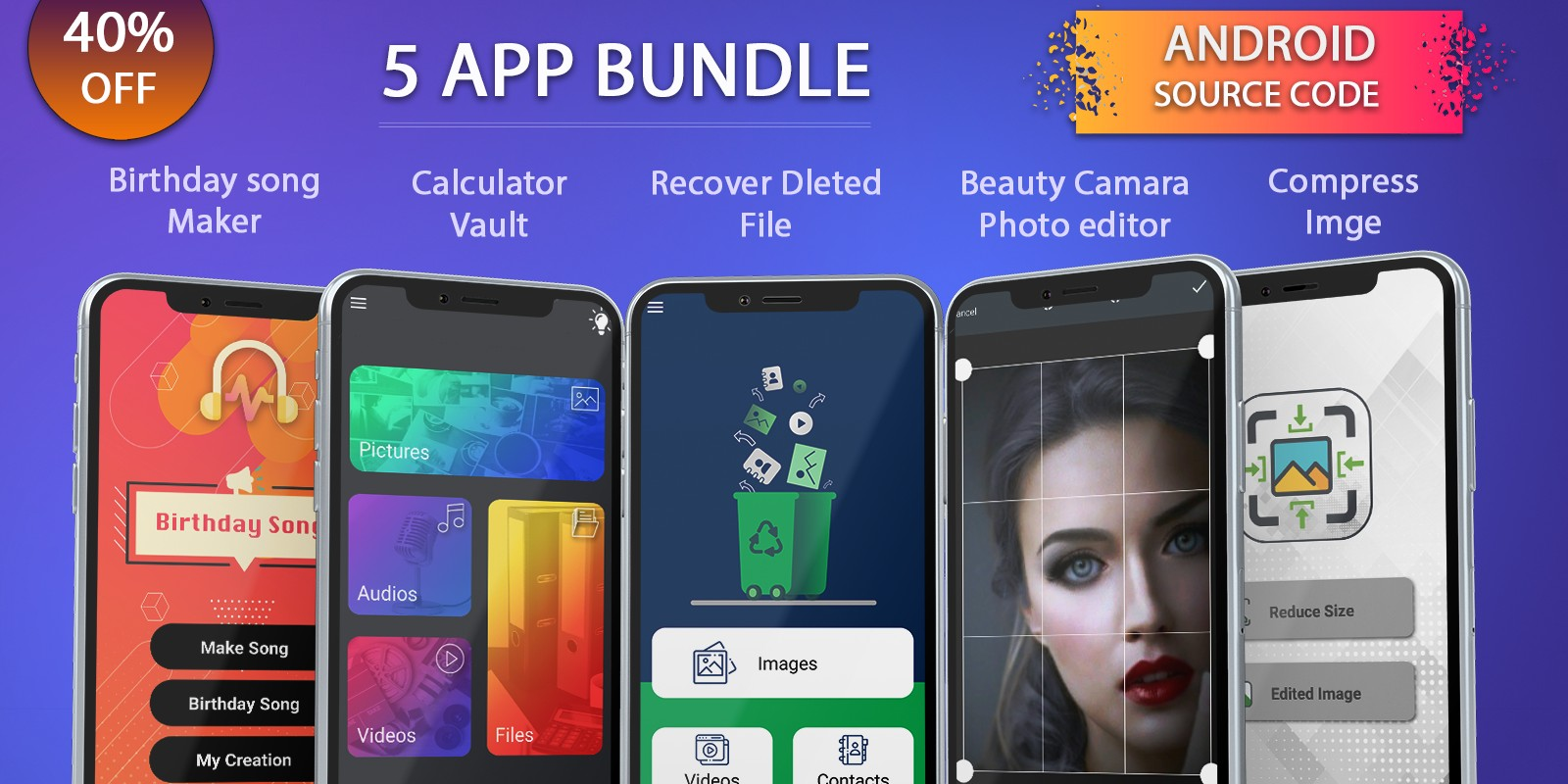 5 Android App Source Code Bundle
