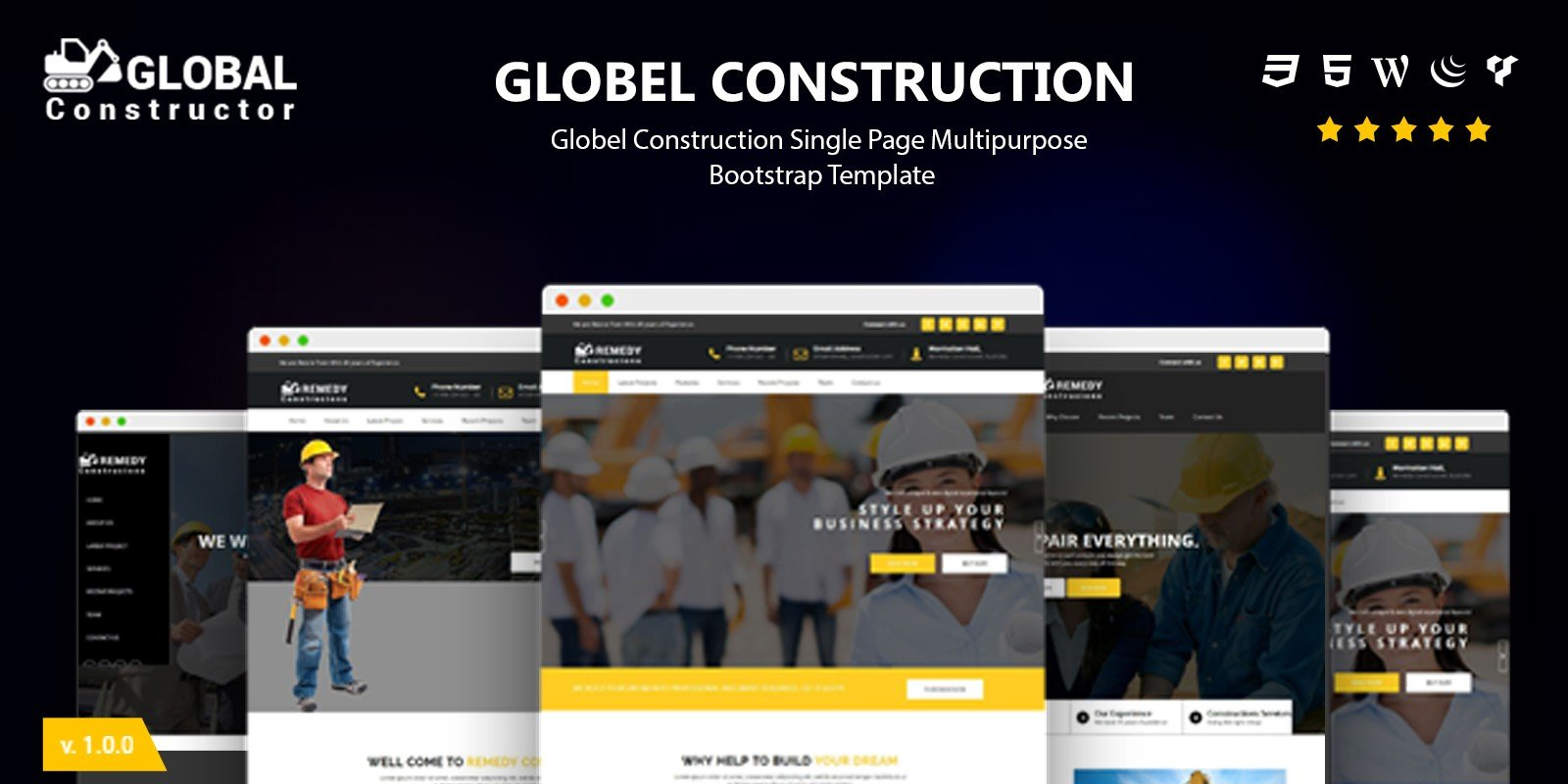 Construction -  Responsive HTML Business Template