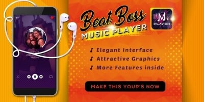 Beat Boss Music Player - Android Template