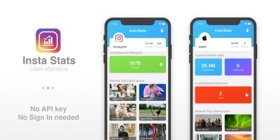 Insta Stats - iOS App Template