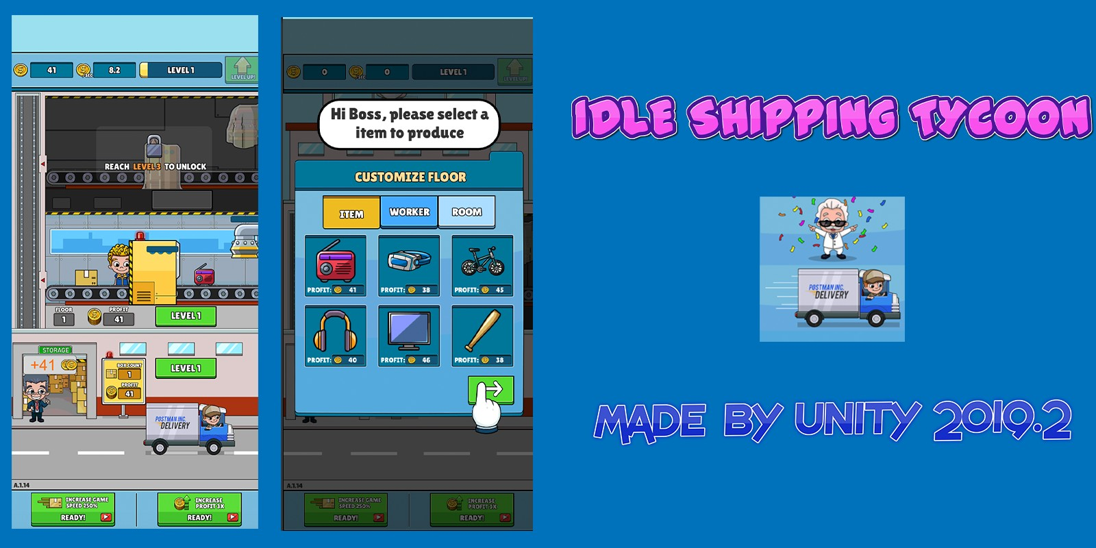Idle Shipping Tycoon - Unity Source Code