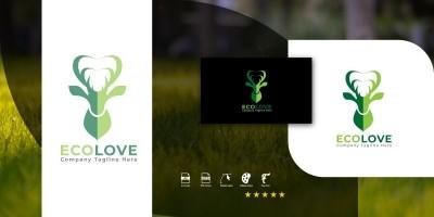 EcoLove Logo Template