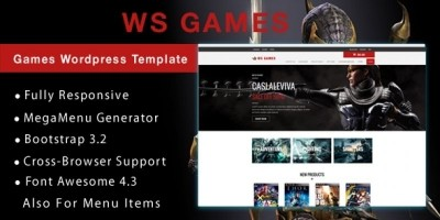 WS Games – Games WooCommerce Theme