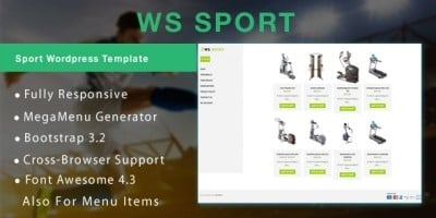 WS Sport – Fitness WooCommerce Theme
